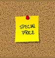 Special price vector