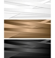 Abstract corporate banners with stripes vector