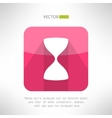 Sand glass icon in modern flat design old vector