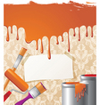Paint on wallpaper background vector