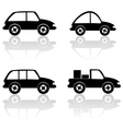 Black cars vector