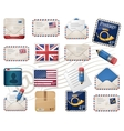 Envelopes and stamps vector
