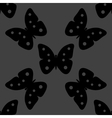 Butterfly web icon flat design seamless gray vector