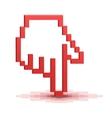 Pixel cursor hand pointer vector