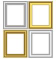 Golden and silver frames vector