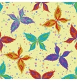 Seamless pattern colorful butterflies vector