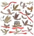 Birds icons vector
