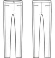 Skinny pants vector