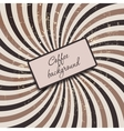 Coffee abstract hypnotic background vector