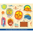 Elements design travel vector