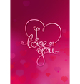 Valentines card i love you rubie vector