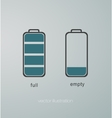 Charged and uncharged battery vector