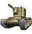 Russian tank kv2 vector