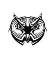 Tribal owl tattoo vector