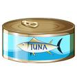 A can of tuna vector