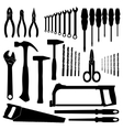 Set icons of tools on a white background vector