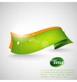Abstract background with a green ribbon vector