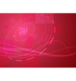 Abstract modern hi-tech background in red colour vector