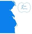 Happy pregnancy background vector