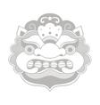 Traditional balinese mask barong vector