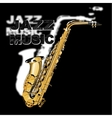 Jazz music on a black and white background vector