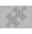 Stencil of puzzle pieces third variant vector