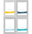 Set of banners with ribbons vector