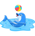 Playful dolphin vector