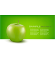 Nature background with green fresh apple vector