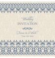 Baroque wedding invitation dark blue vector
