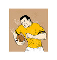Rugby player poster vector