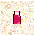 Usb stick icon vector