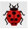 Mosaic ladybird vector