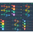 Set of infographic timelines web template time vector
