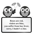 Hay fever poem vector