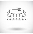 Canoe icon vector