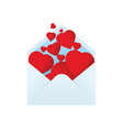 Envelope with filled hearts vector