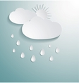 Abstract 3d paper cloud vector