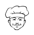 Happy smiling chef with a little moustache vector