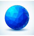 Blue geometric ball for your design vector