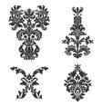 Set of ornamental damask elements vector