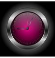 Dark red stylish clock vector
