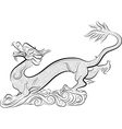 Old chinese traditional dragon vector