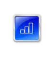 Graph icon on blue button vector