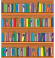 Bookshelf with books vector