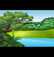 A beautiful landscape with a pond vector
