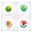 Earth company logo design vector