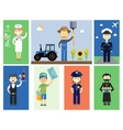 Set of men and women professional characters vector
