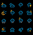 Weather forecast icons - night vector
