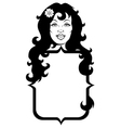 Girl with long hair vector